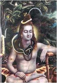 Shiva with Staff on Left