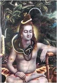 Shiva with Staff on Left