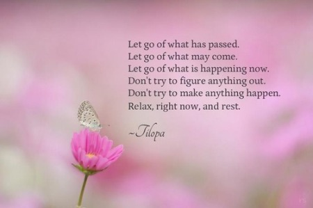 Let go and relax