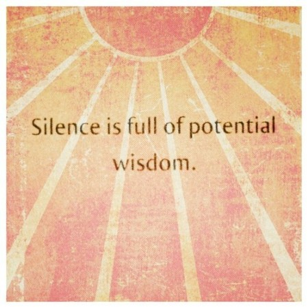 Wise Silence