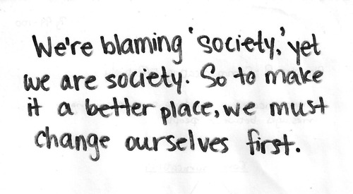 Change ourself