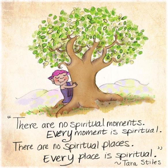 spiritual moment