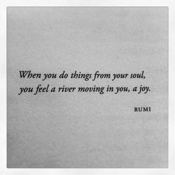 feel a river