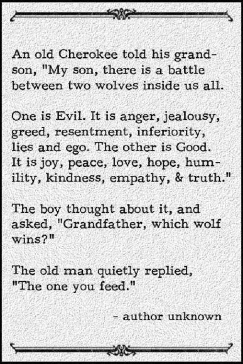 the one we feed
