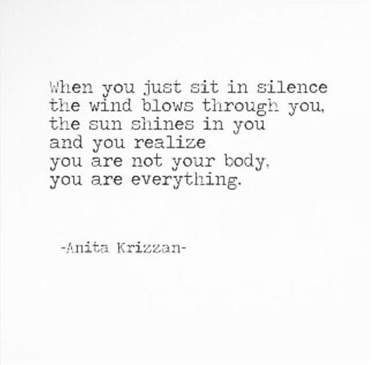 sit in silence...