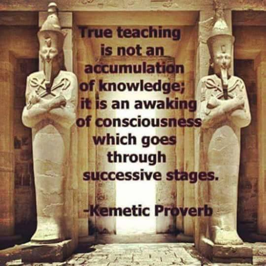 Kemetic proverb